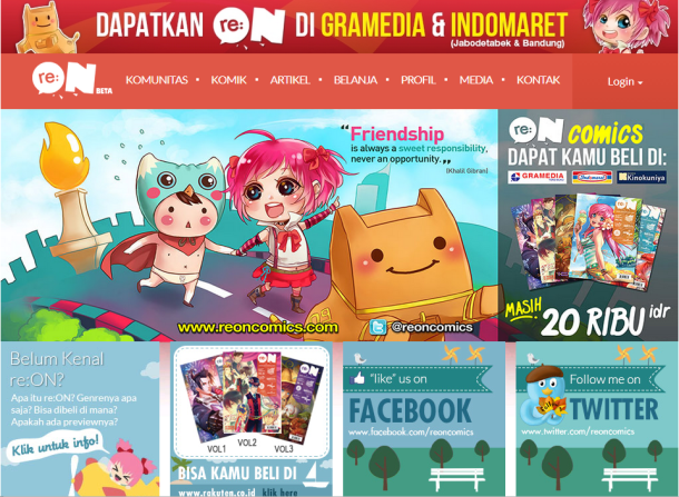 re:on becomes the new trendsetter in the Indonesian comic magazine