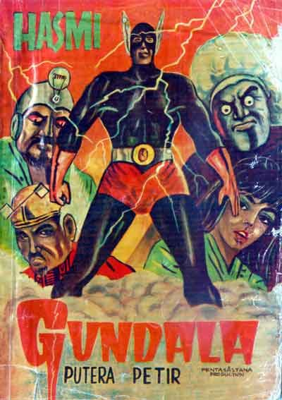Cover of Gundala Putra Petir, famous in the 1970's